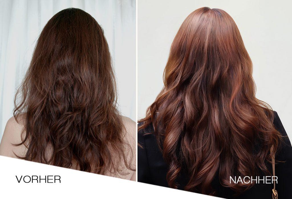 vorher nahher nanoil hair oil